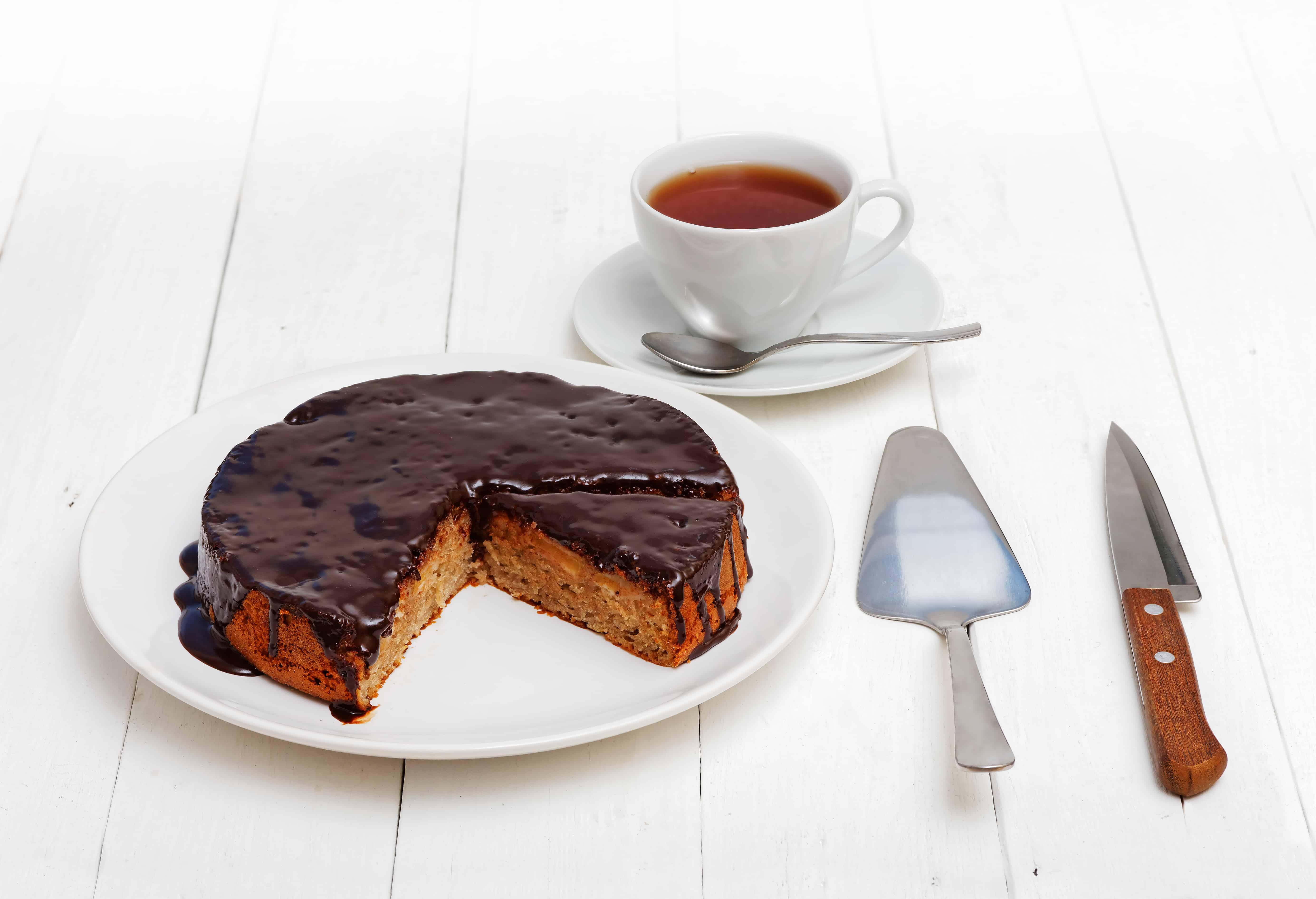 Hrnčekový jablkovo-orechový koláč