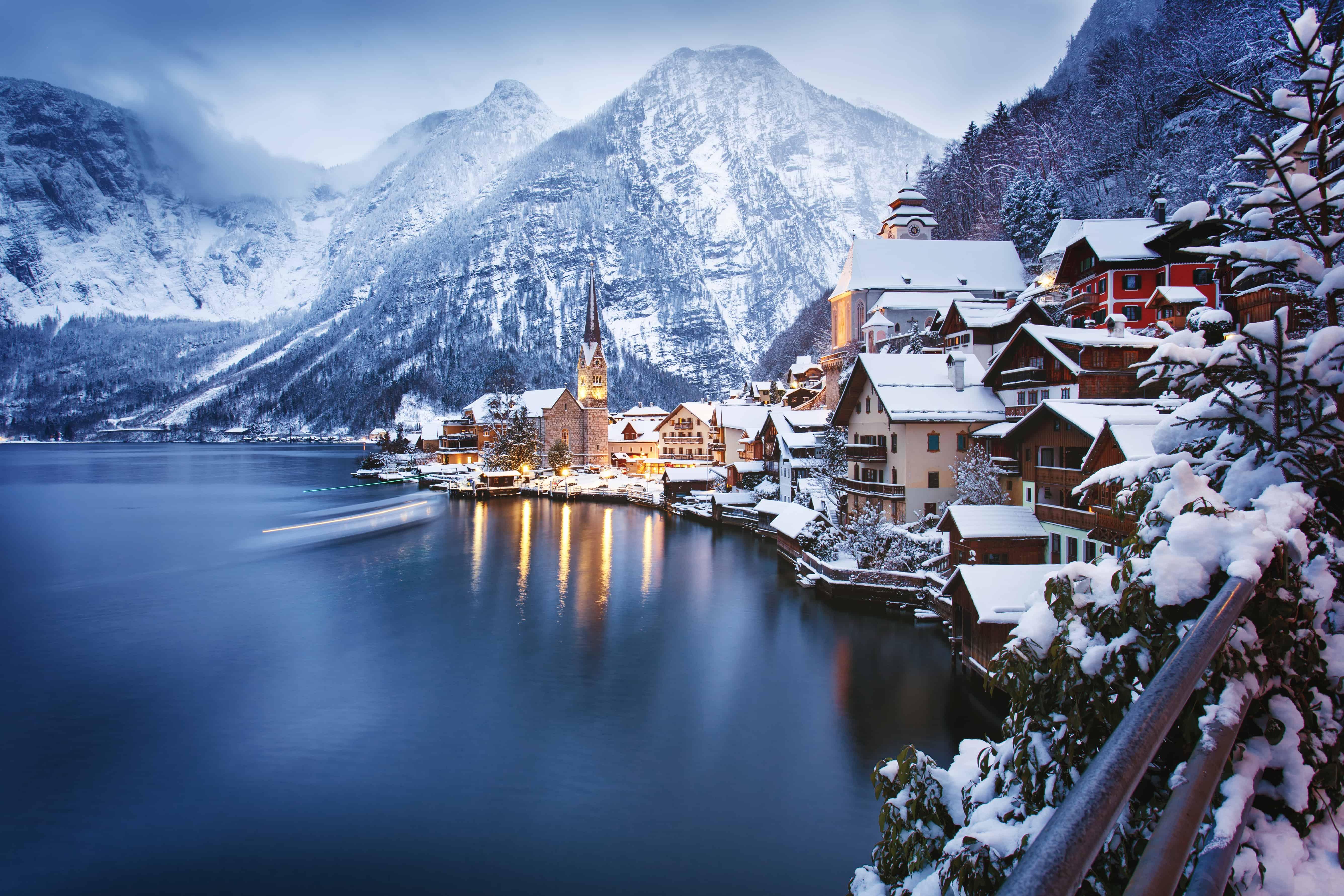 Krásne európske miesta v zime