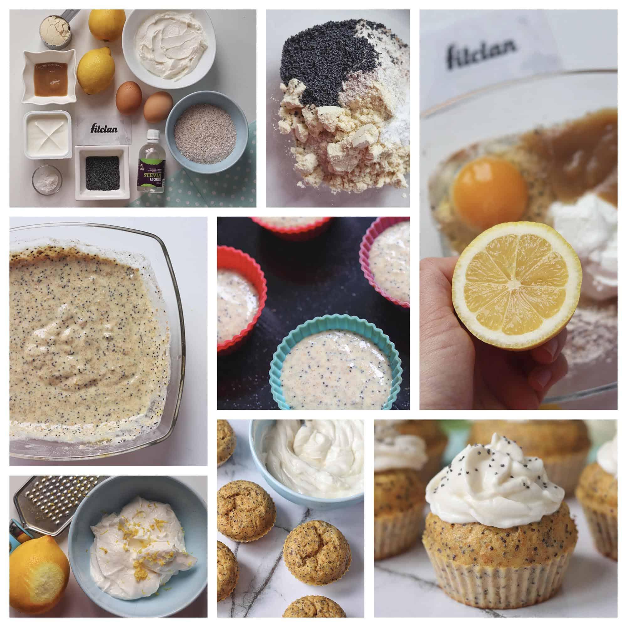 Makové cupcakes s citrónovým krémom