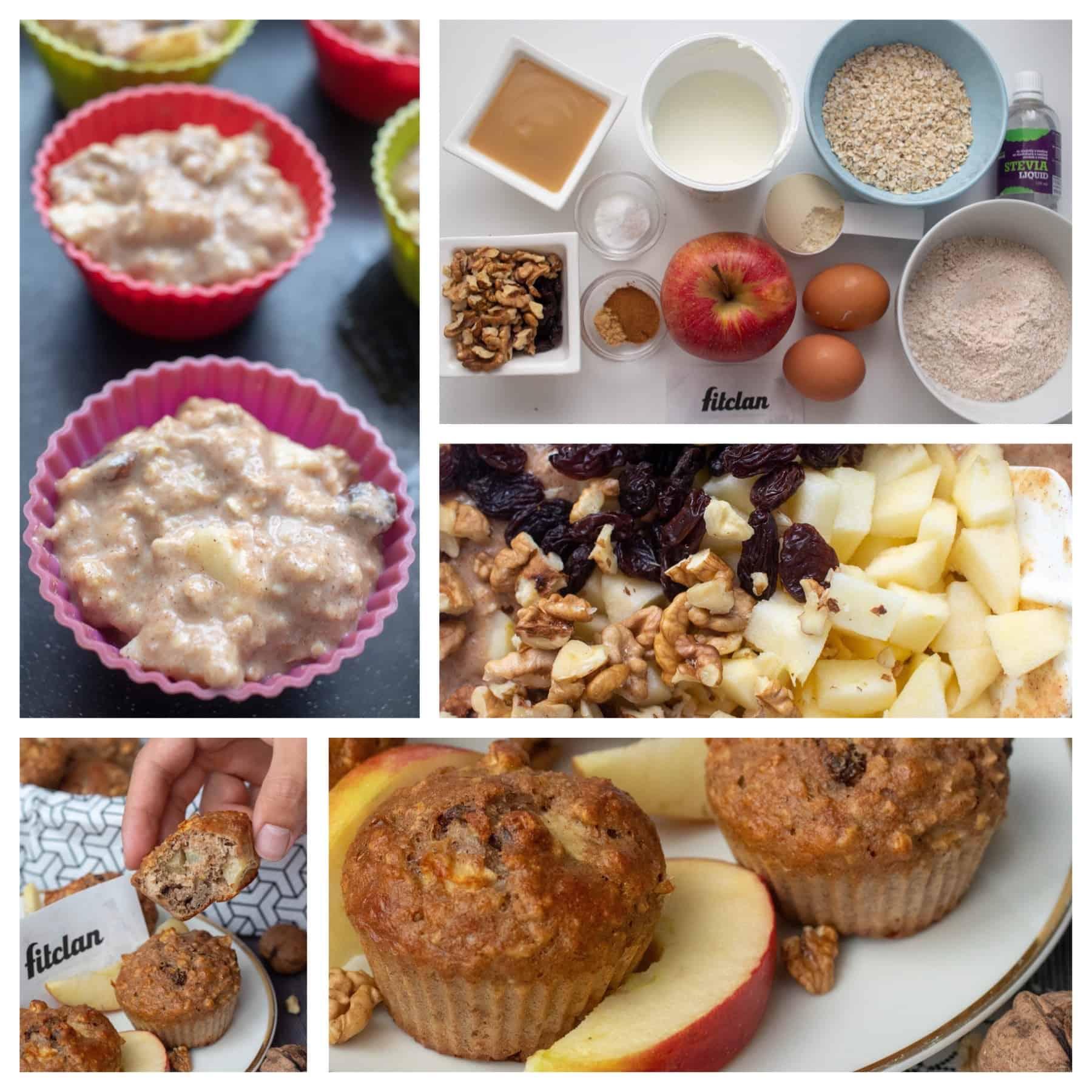 Naše najobľúbenejšie zdravé muffiny: jablkové s orechami a hrozienkami